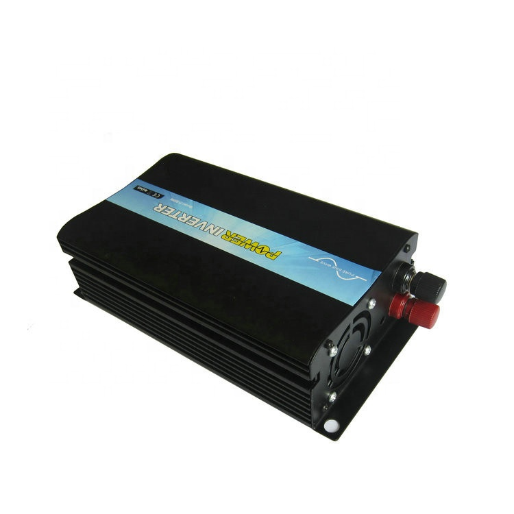 Black Micro Solar Inverter 12VDC 120VAC 500W inversor 500w Used for TV Laptop Light One Year Warranty