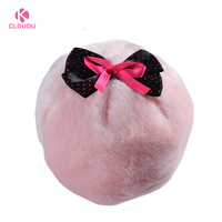 Boa Puff with Ribbon Ball Shape highlighter Beauty Cosmetics shimmer powder Puff