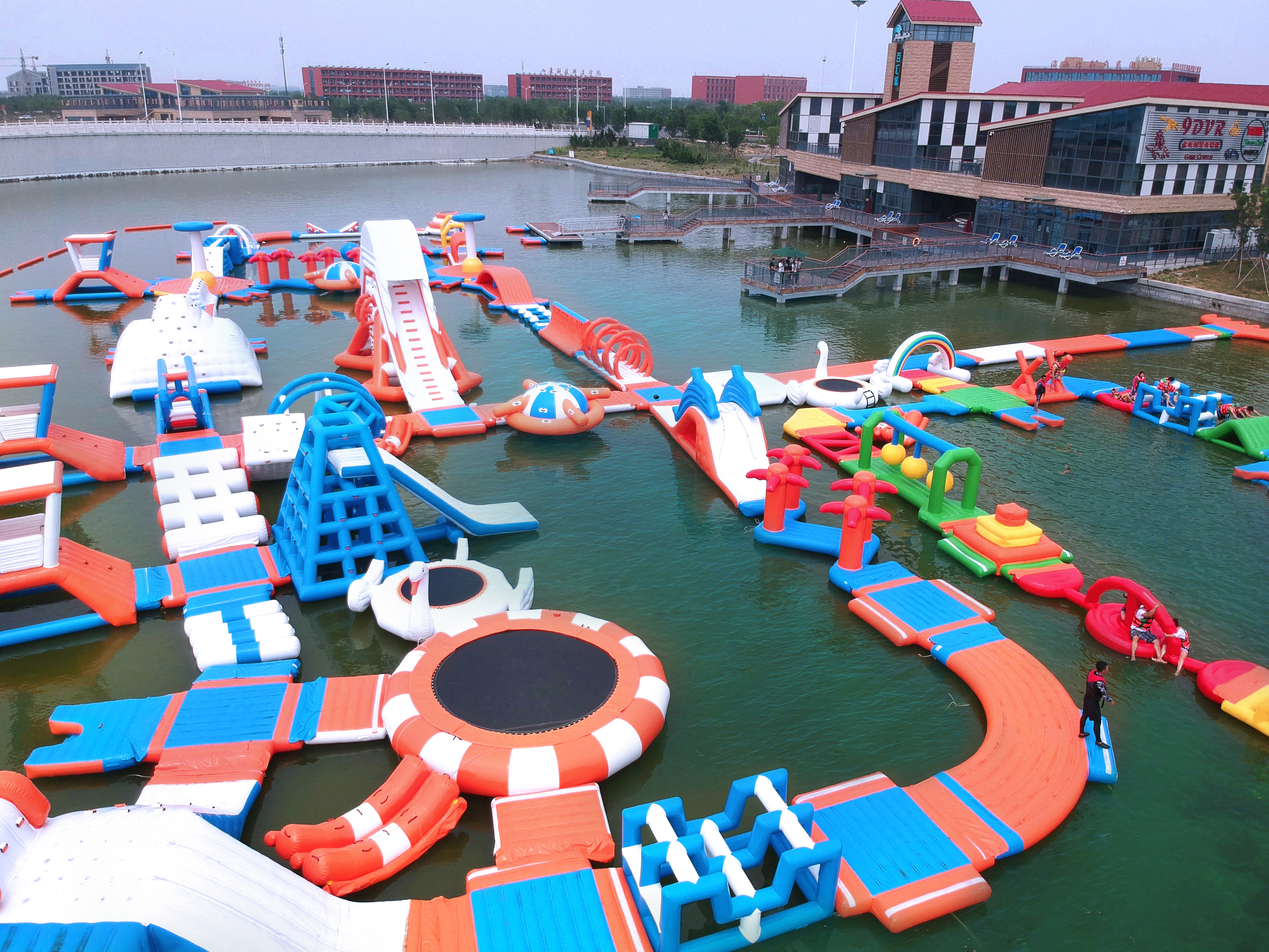 Commercial Adult Water Games Obstacle Course Inflatable Floating Water Park For Sale