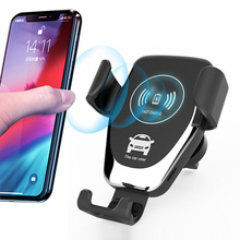 2020 Smart Gravity Sensor Fast Charging Car <strong>Phone</strong> <strong>Holder</strong> with Wireless Charger