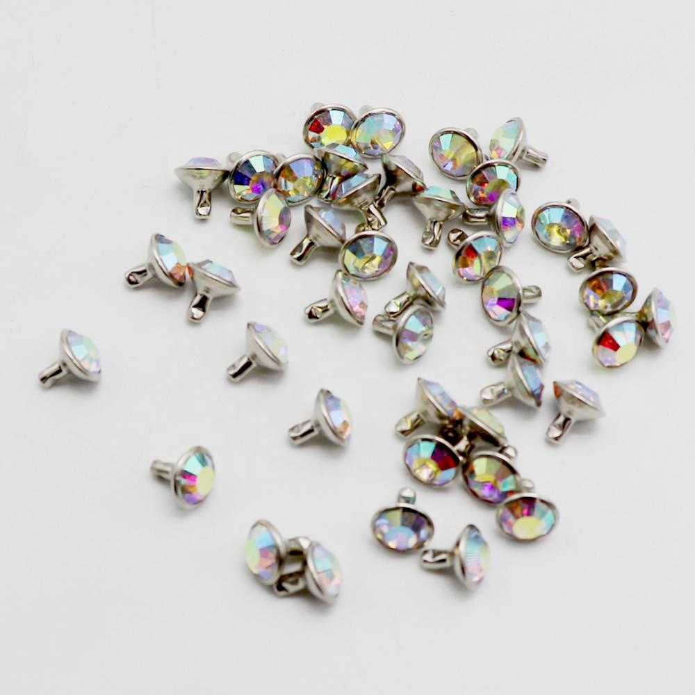 Wholesale Top Grade AB Colour Rhinestones with Silver Studs Set Swarovski <strong>Crystal</strong>