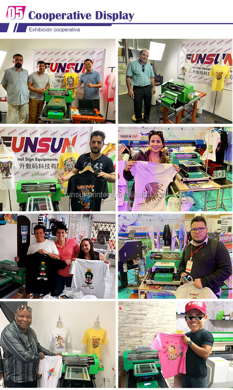 Weekly Deals Free Shipping!Quality Certified Funsun A3 Dtg 1440dpi T-shirt Printing Machine