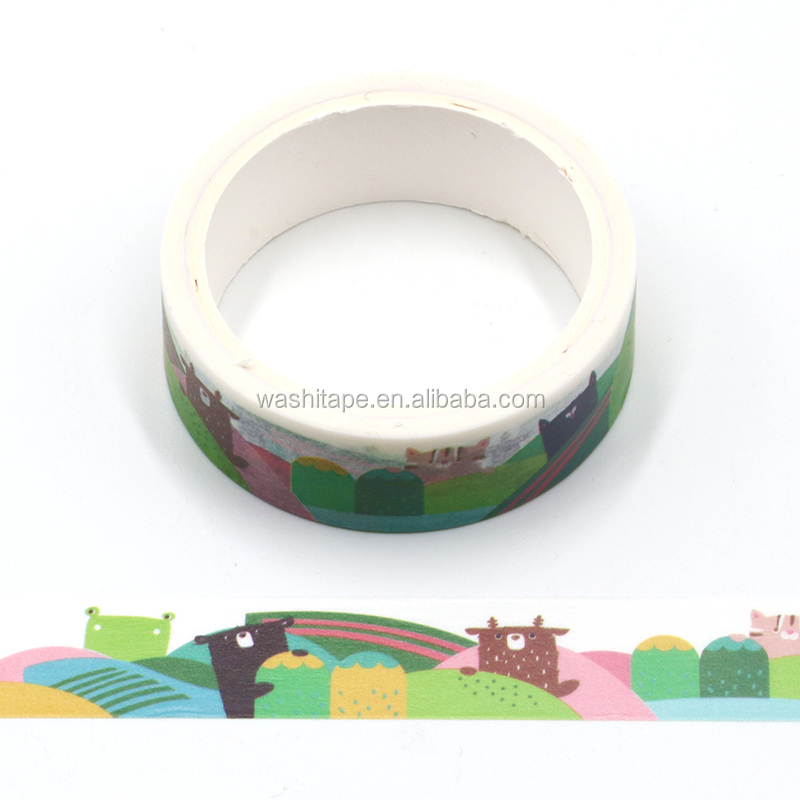 New trend product Christmas hat cartoon cute animal printnig washi tape