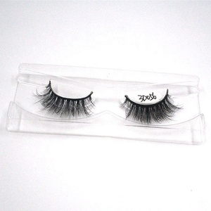 Clear invisible band 3d mink lashes waterproof false eyelashes