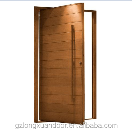 Customizable 24inches/48inches exterior front composite wooden pivot <strong>doors</strong> for USA