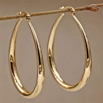 14K Solid Yellow Gold Earrings Jewelry Gift Hammered Gold Hoop Filled Plate Earring For Women E1105