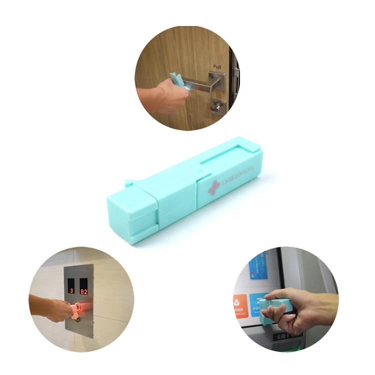 Creative Contactless Outdoor Portable Plastic Sanitary <strong>Tool</strong> For Door Elevator Opener Touch Screen Door Pusher