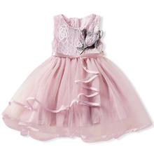 Summer Girls Pink Sleeveless Pageant Princess <strong>Party</strong> <strong>Dress</strong> Ruffles Tutu <strong>Dresses</strong> Children Clothes Girl <strong>Dresses</strong>