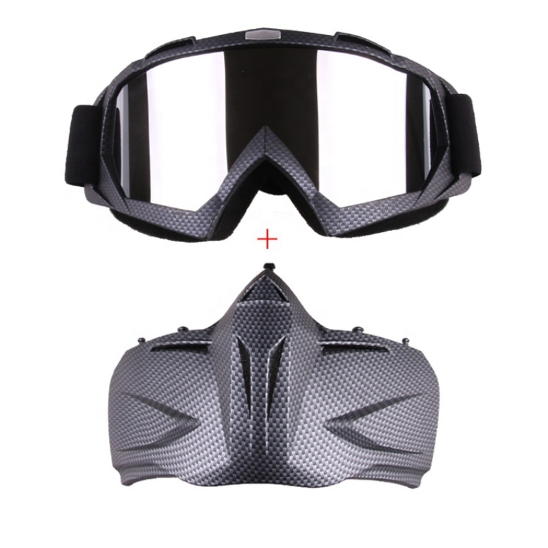 Full Face Detachable Protection UV Motorcycle Outdoor Sport Helmet Goggles