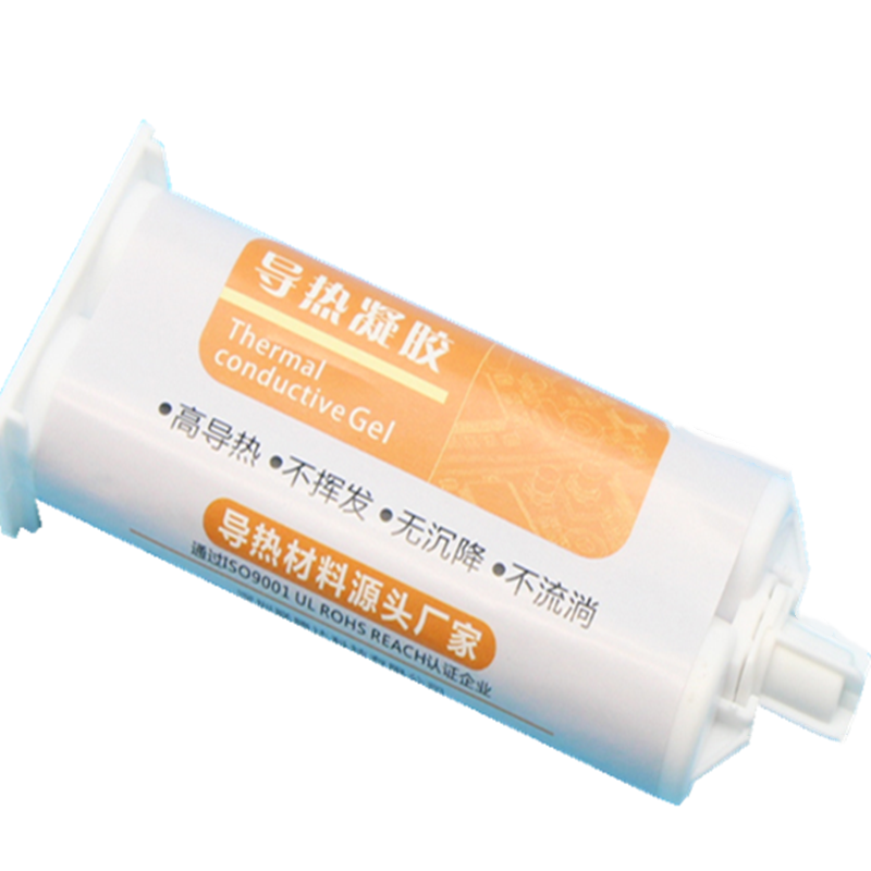 Automatically thermal conductivity 2-5 <strong>W</strong>/mK liquid gap filler no volatility AB Two-part gel silicone insulation syringe for putt