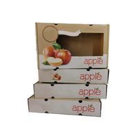 Best sold fruit shape printing packaging apple/orange/cherry paper gift boxes with clear window