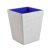 Customized Pure Color Large Wooden Office Home Hotel Organizer Trash Bin