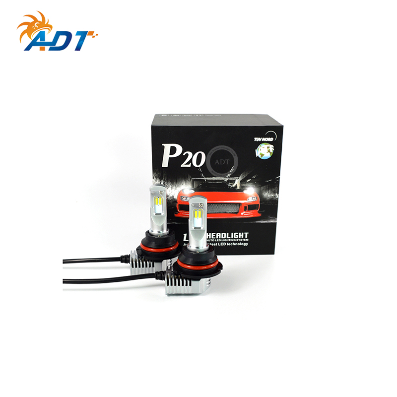ADT Newest 40W High power P20 led headlight 5200lm 6500K white H11 H7 H4 9004 1:1 size to <strong>halogen</strong> <strong>bulb</strong>