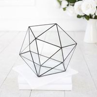 Simple style air plant pot modern art and craft geometric glass terrarium home decoration