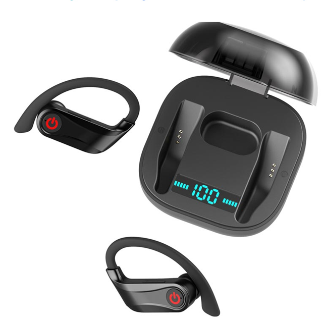 Noise Cancelling Sport <strong>Touch</strong> Control Earpod Audifonos TWS Wireless Charging Earhook Bluetooth Earphone