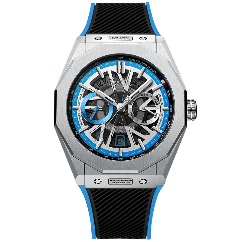 GATTI King's speed high- quality stainless steel Automatic winding Sapphire watch for men with Vibration frequency 28800/<strong>h</strong>