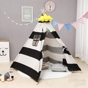 Wholesale high quality tipi tent for children party teepee tent kids cotton canvas