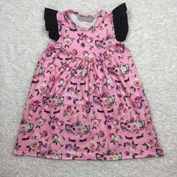 high quality baby girls tunic top unicorn pattern flower dress frock