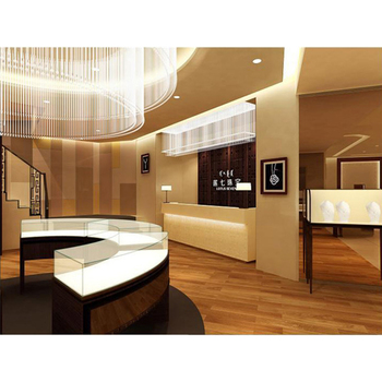 Fashion Mall Wooden Jewelry Gold Watch Store Furniture Jewellery Glass Display Showcase