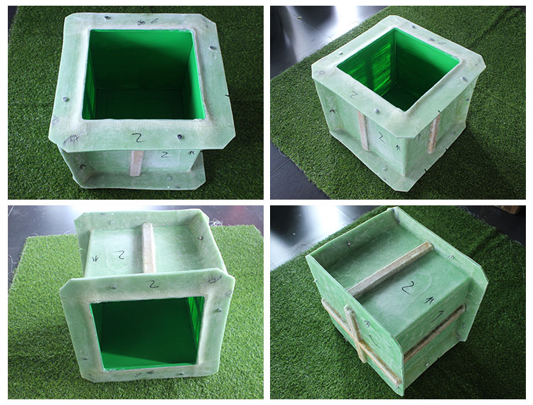 Rectangle large fiberglass concrete planter flower pot molds for sale