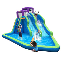 Hot Sale Children Inflatable Playground Bouncer Water Slide With Pool For Sale