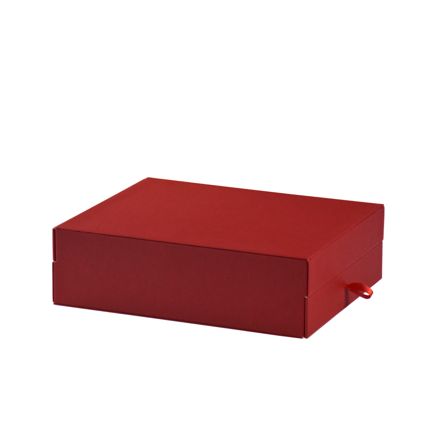 Custom drawout double desktop leather gift packaging box storaging box