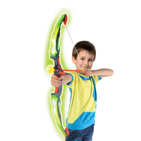 Soft bullet led light up archery bow and arrow toy set for kids