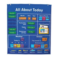 All About Today Activity Center Chart Classroom Management Pocket Chart For Kids Learning