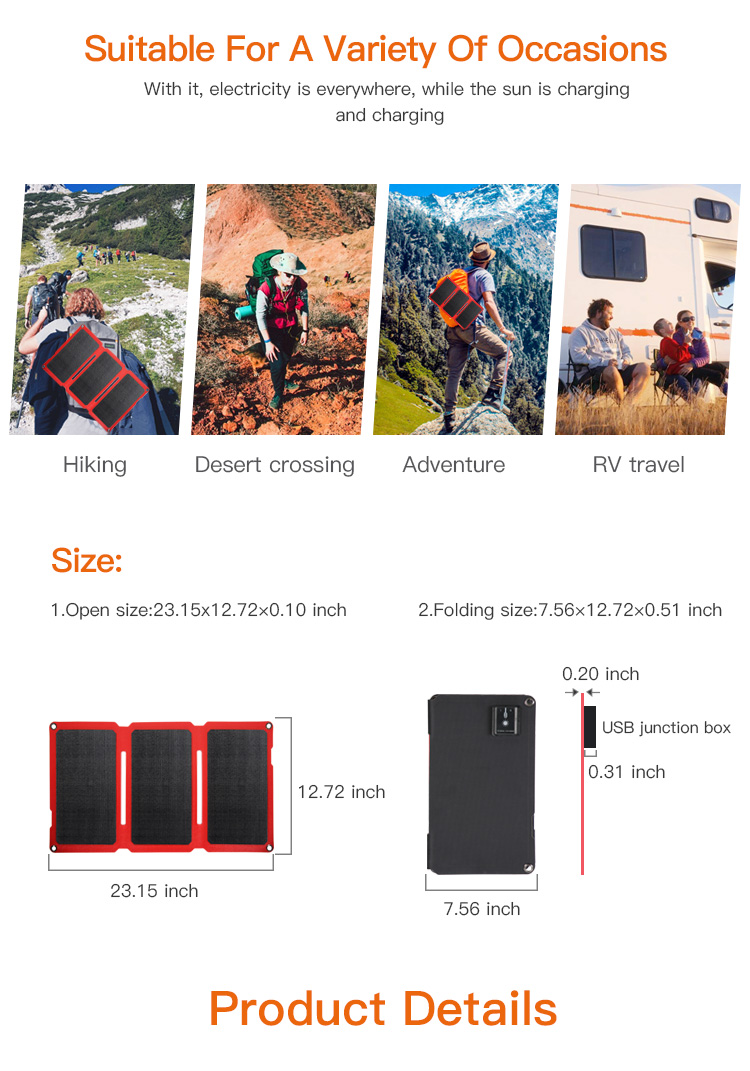 20W Solar Portable Chargers,usb portable solar power mobile phone charger