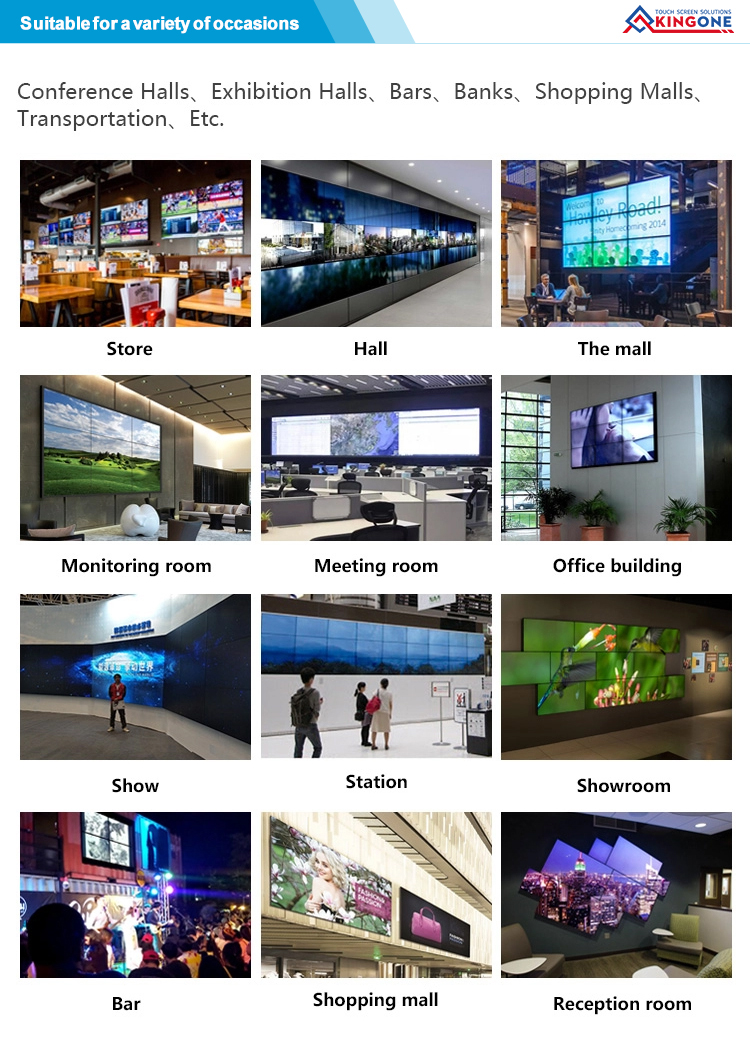 "49"" Wall Mounted LCD Video Wall with 4K resolution for shopping malls"