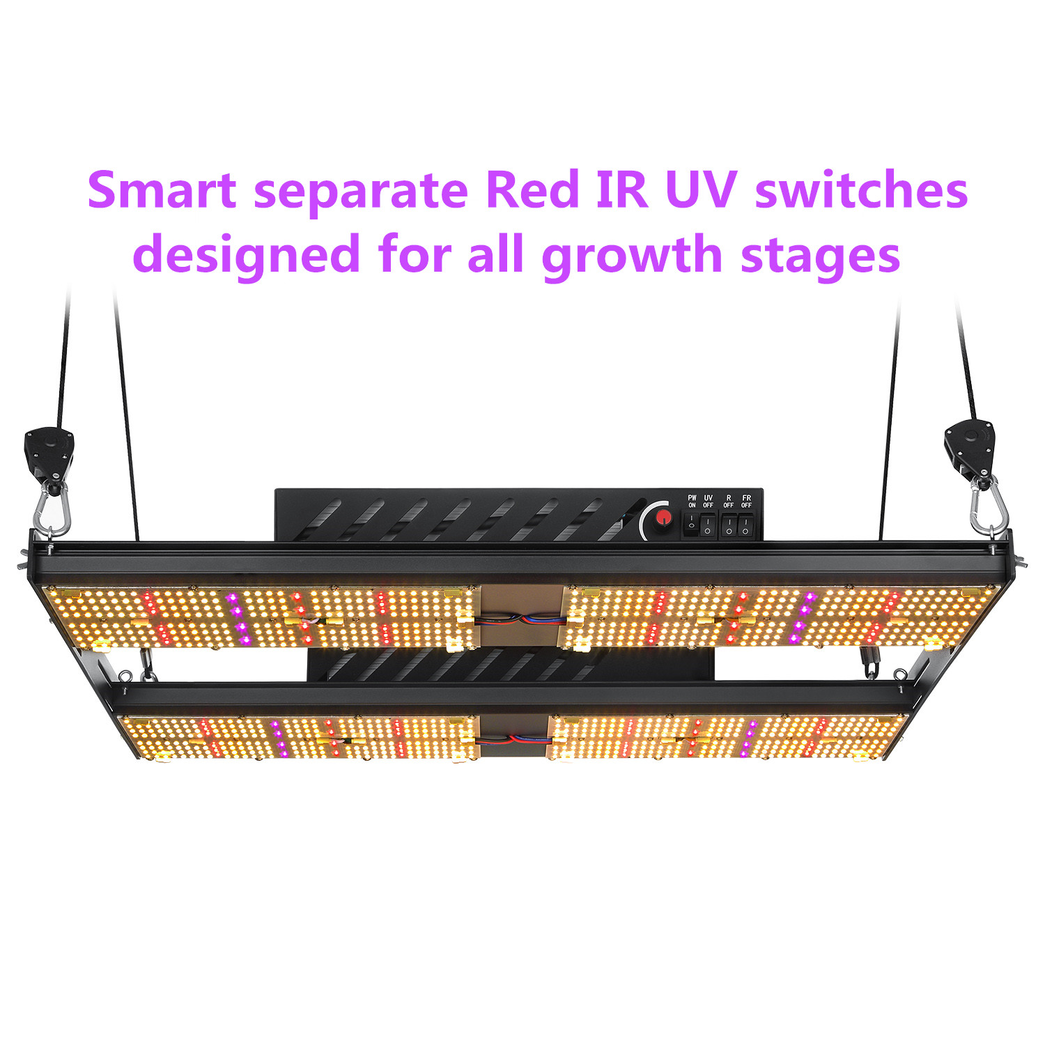 2019 updated Samsung quantum lm301b mix oslon red far red uv 390nm full spectrum indoor led grow lights for seeding to Flowering