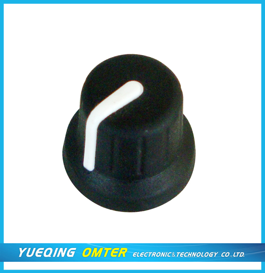 rubber potentiometer knob 1016(16X15) 6*18T or D shaft