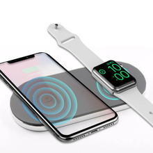 Oweyda amazon hot sell 2 in 1 wireless charger fast charging docking station for smart phone /smart watch