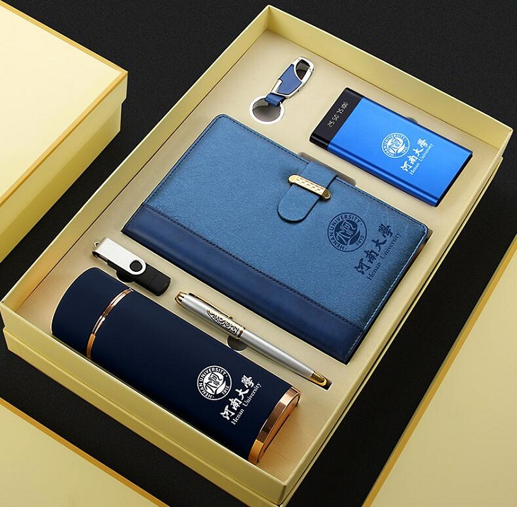 6 in 1 VIP Business Gift Set Luxury for School Hospital  ,  Promotion Corporate Gift Set with Notebook Vacuum Cup Power Bank