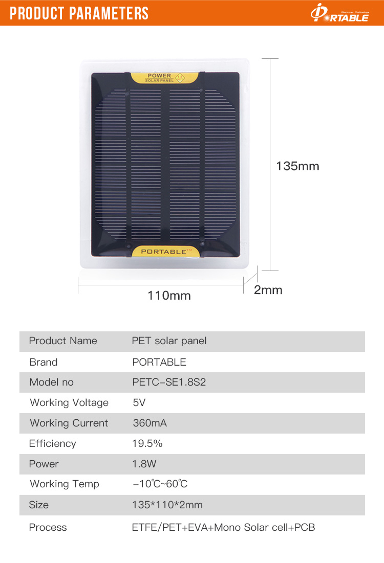 Small Solar Panels Epoxy Mini Solar Cell ,DIY Solar Charger For 5V Battery Education 135*110*2mm