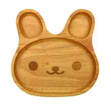 Cartoon Rabbit Shaped Bady Use Beech Wood Oak Wood Dish <strong>Plate</strong> Wooden Dinner Serving Tray For Food