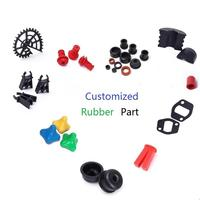Custom Design CR NBR EPDM Molded Silicone Rubber Part