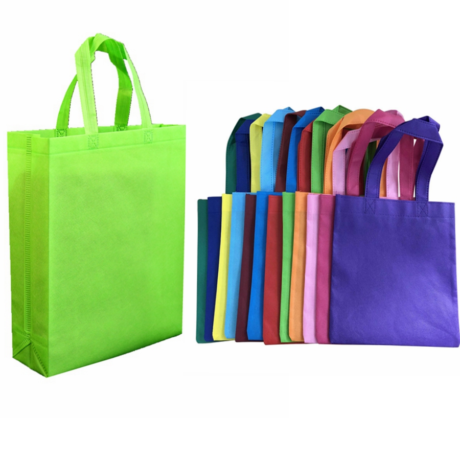 LOW MOQ Cheap Price Promotional Customized Colors <strong>Eco</strong> Tote Pla Non-Woven Shopping Bag, Recyclable PP Non Woven Bags