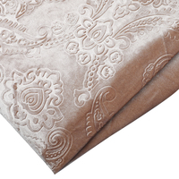 winter use new design curtain fabric velvet Holland embossed velvet fabrics