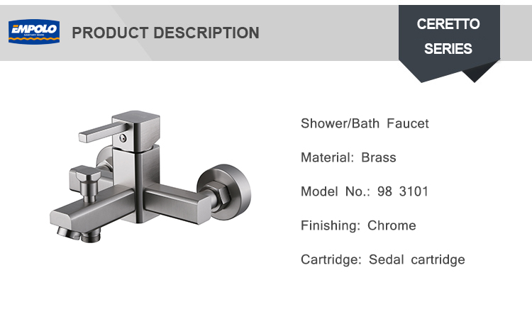 Bathroom Water Bath Artistic Stainless Steel Mixing Valve Thermostatic Single Lever Shower Mixer