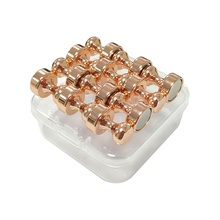 12 Pack Newest Water Plating Rose Gold Color D12x16mm Neodymium Push Pin <strong>Magnets</strong> <strong>Fridge</strong> Metal Magnetic Whiteboard <strong>Magnet</strong> Pin