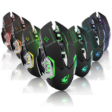 Dpi adjustable 2.4G  USB rechargeable gaming mouse with 7 colors breath light --Shenzhen Ricom