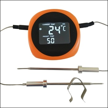 "Easy Read Dial 12"" Candy Deep Fryer Thermometer With Pot Clip Up To 550 Degrees Fahrenheit"