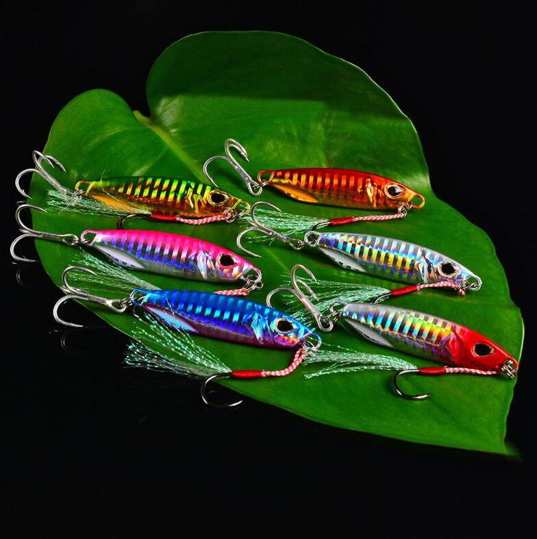 Metal Sequins Fishing Lure Crankbait Jig Shads Spoon Artificial Baits Wobbler Rotating Bait Sea Lures Pesca
