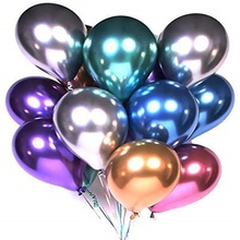 <strong>12</strong> inch 50 pcs Assorted Color Mylar Balloon Chrome Helium Balloon for Bachelorette,Birthday Party Supplies Decorations