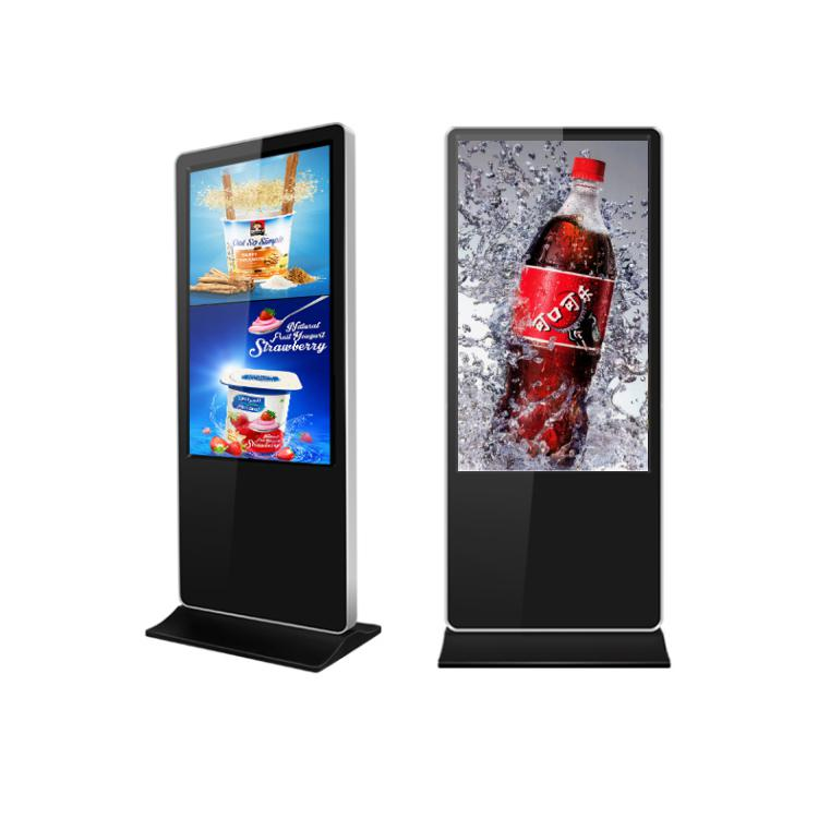 55&quot; Floor standing Standalone Multi Screen USB Media Video Photograph player LCD digital signage monitor for <strong>advertising</strong>