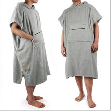 custom made cotton hooded beach poncho <strong>towel</strong>