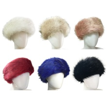 Faux Fur <strong>Headband</strong> with Elastic for Women's Winter Earwarmer Earmuff