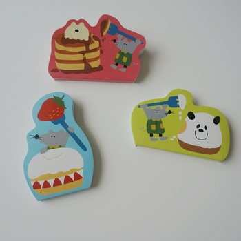 mini soft cover animal shape sticky note pad