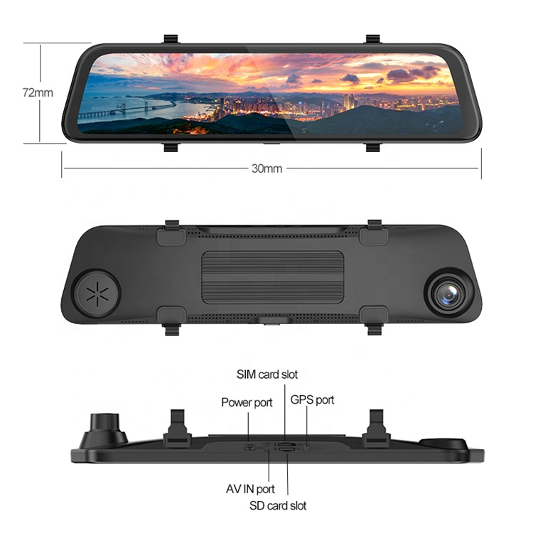 AmazonHot sale4k Full HD <strong>camera</strong> <strong>D11</strong> 4G Mirror Car Dash <strong>Camera</strong> Video 8.1 FHD Live view Monitor
